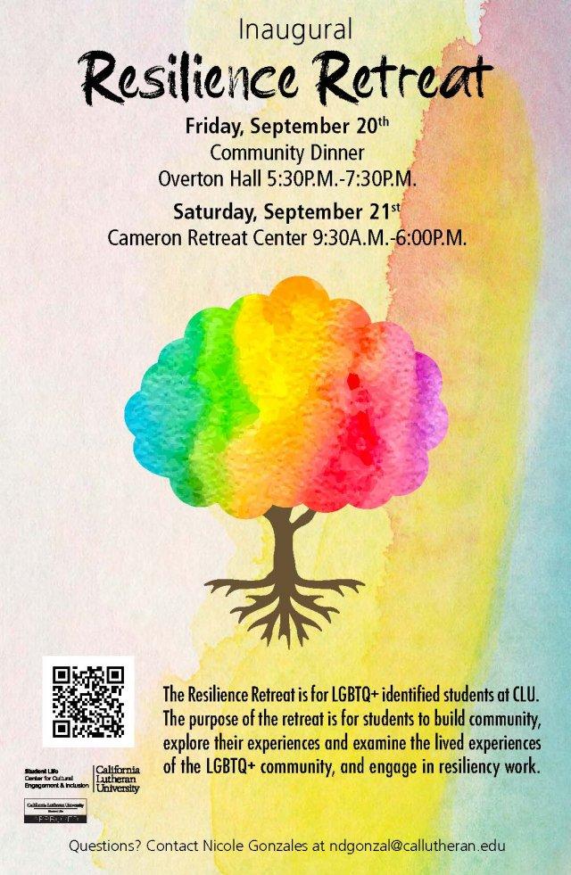 Resilience: Inaugural LGBTQ+ Student Retreat