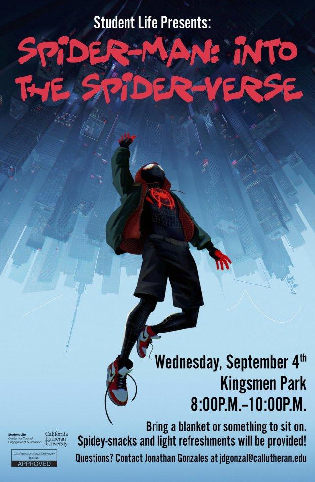 Student Life Movie Night: Spider-Man: Into the Spider-Verse