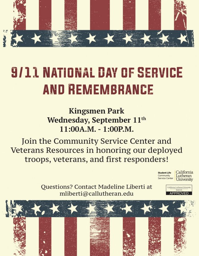 September 11th National Day of Service and Remembrance
