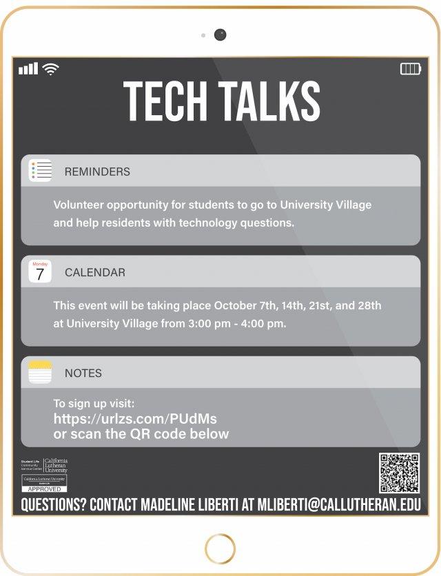 VOLUNTEER: University Village Tech Talks