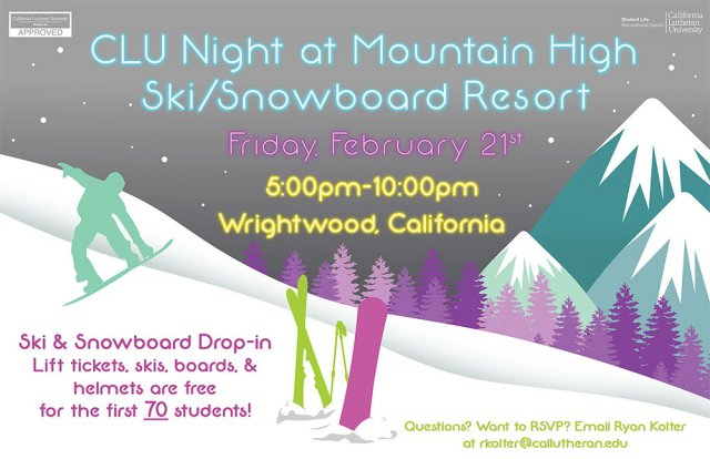CLU Night at Mountain High Winter Resort