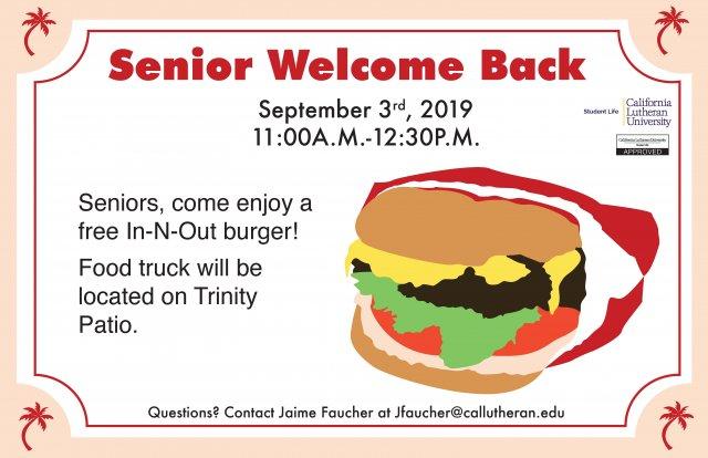 Senior Welcome Back
