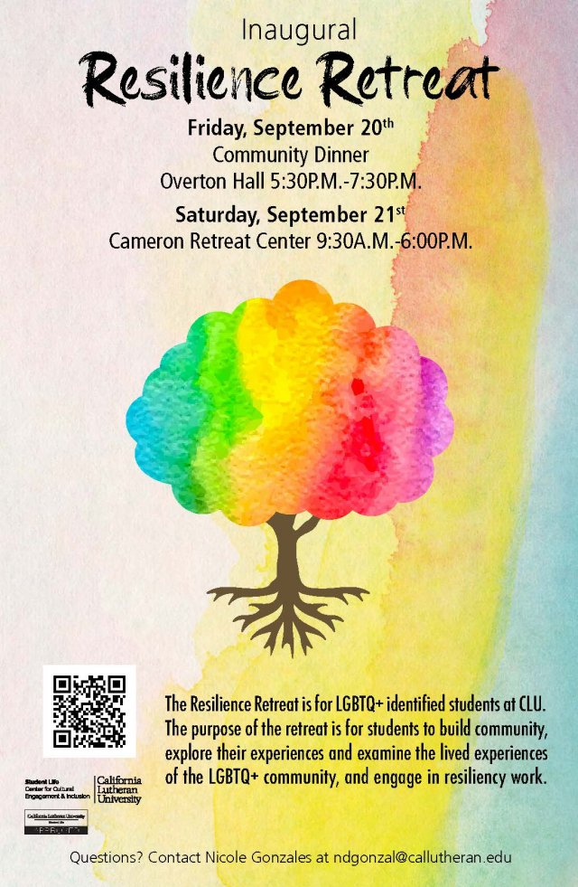 Resilience: Inaugural LGBTQ+ Student Retreat