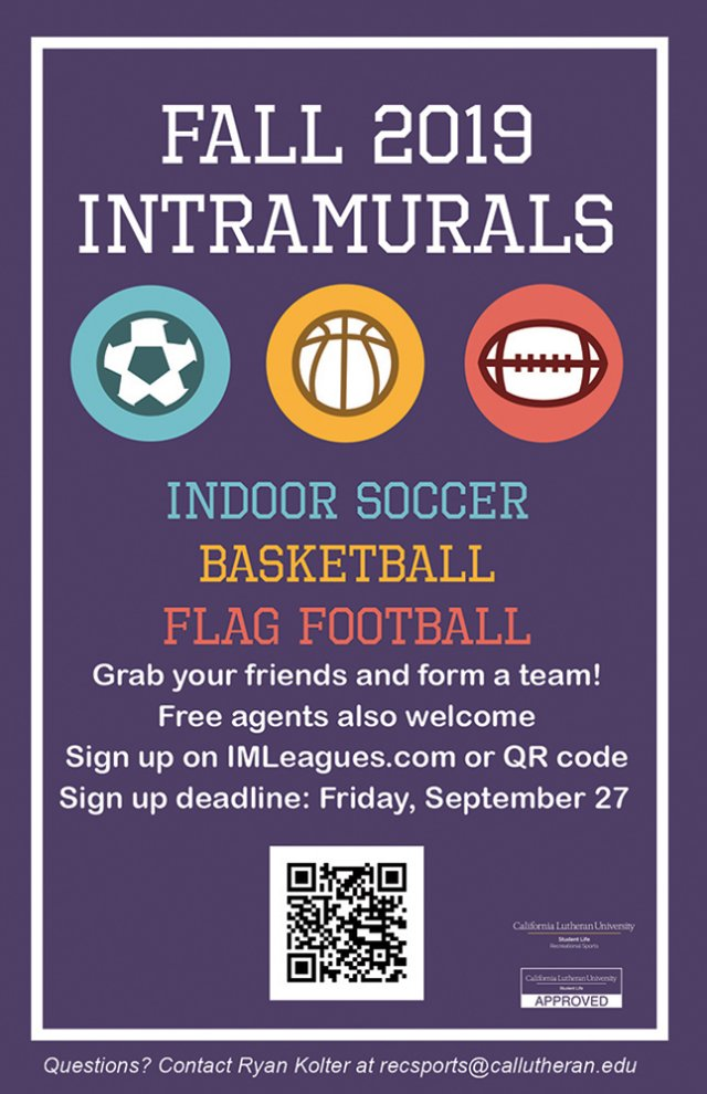 Fall Intramurals Signup Deadline