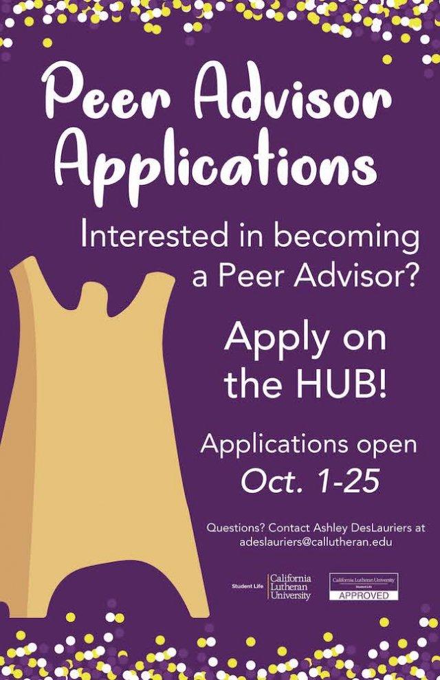 Peer Advisor Applications