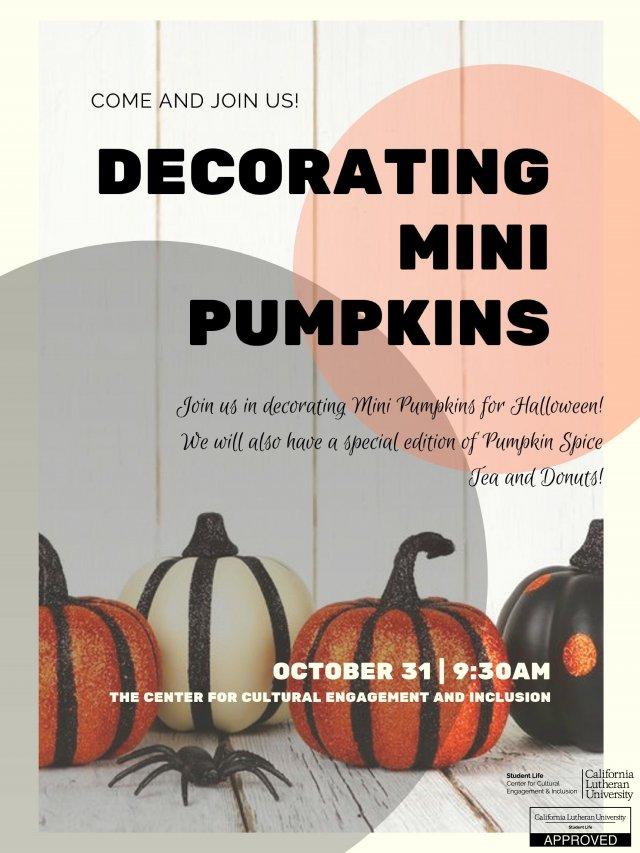 Decorating Mini Pumpkins