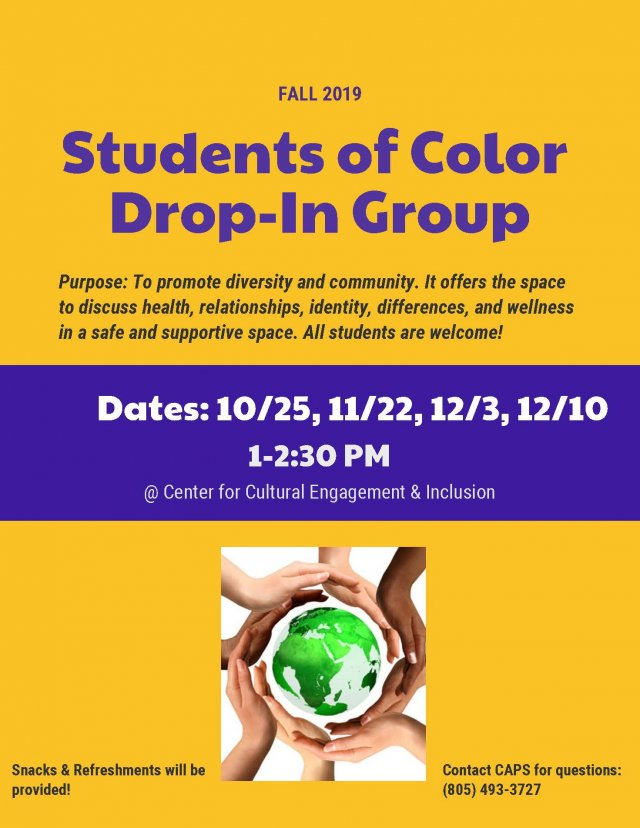 Student of Color Drop-In Group