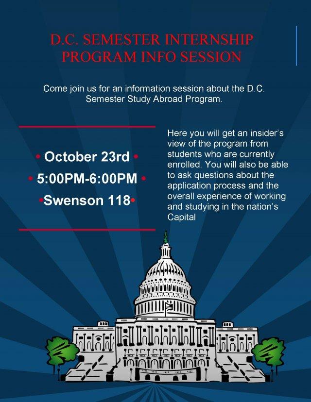 D.C. Semester Internship Program Info Session