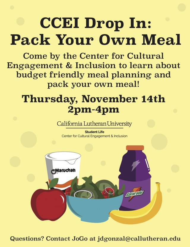 CCEI Drop In: Pack a Meal!