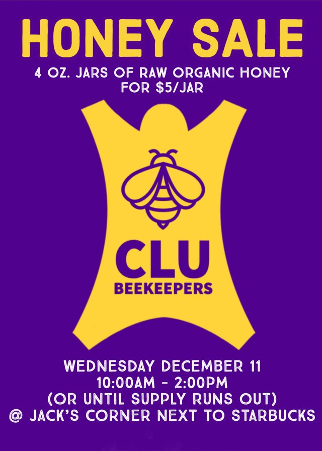 CLU BEEKEEPERS HONEY SALE