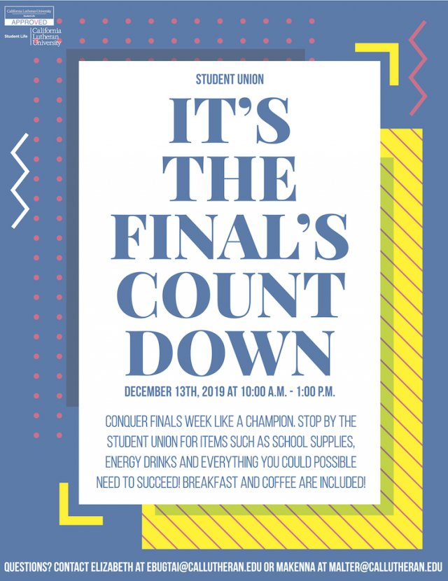 It's the Finals Countdown