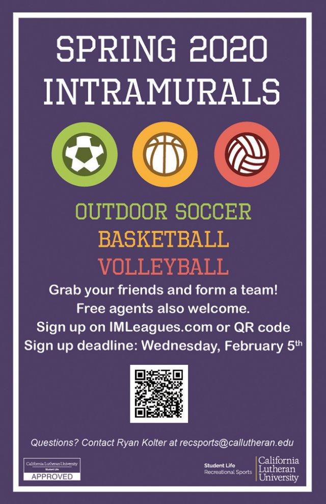 Intramural Sports Signup Deadline