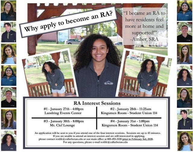 RA Interest Session #1 - 2020