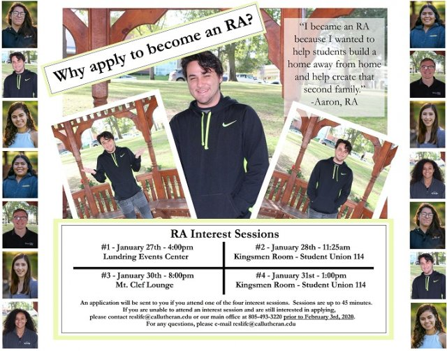 RA Interest Session #2 - 2020