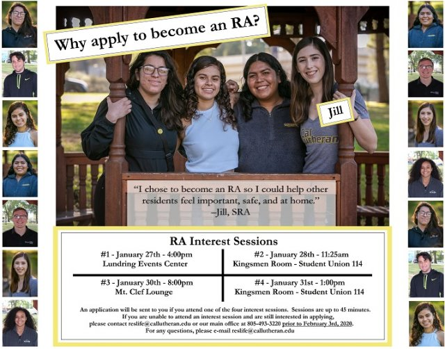 RA Interest Session #3 - 2020
