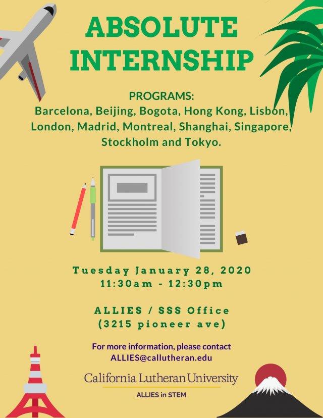 Internship Abroad Opportunity Workshop: Absolute Internship