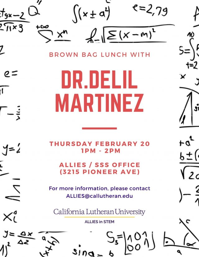 Brown Bag Lunch with Dr. Delil Martinez