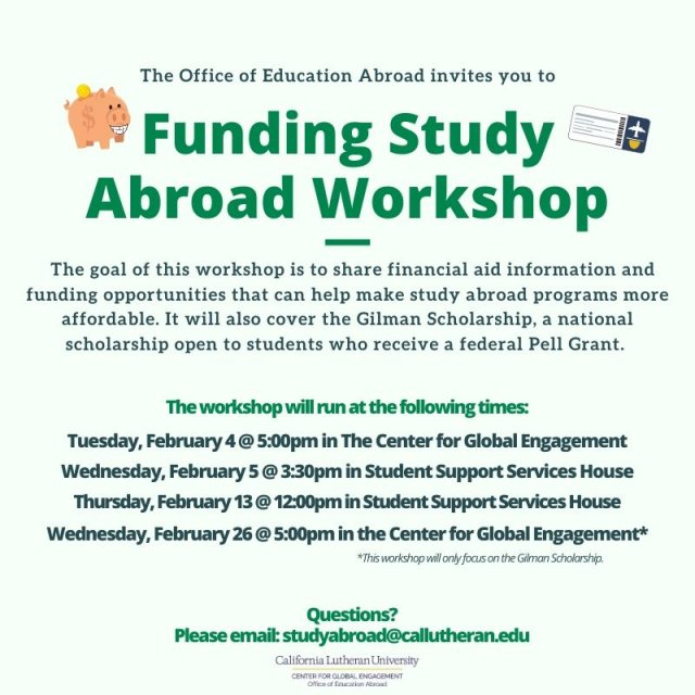 Funding Study Abroad Workshop