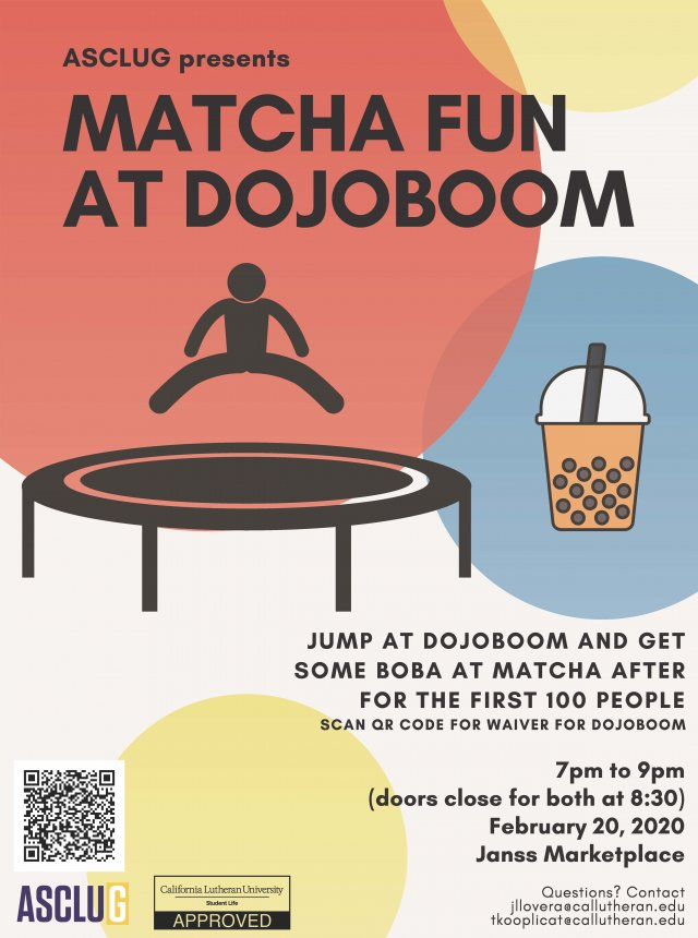 ASCLUG Presents: MATCHA FUN AT DOJOBOOM
