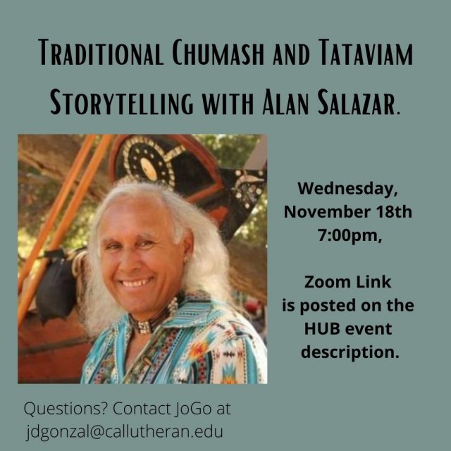 Traditional Chumash and Tataviam Storytelling with Alan Salazar.