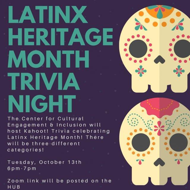 Latinx Heritage Month Trivia Night!