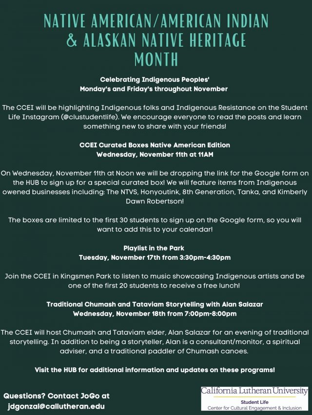 Native American/American Indian & Alaskan Native Heritage Month