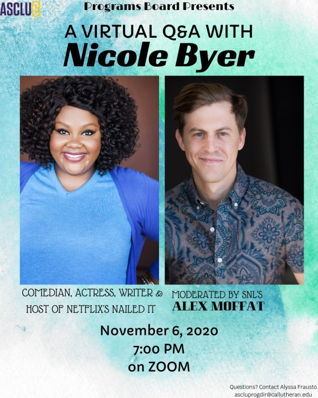 Virtual Q&A with Nicole Byer - moderated by SNL's Alex Moffat