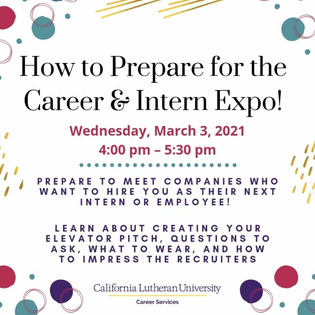How to Prepare for the Virtual Career and Intern Expo