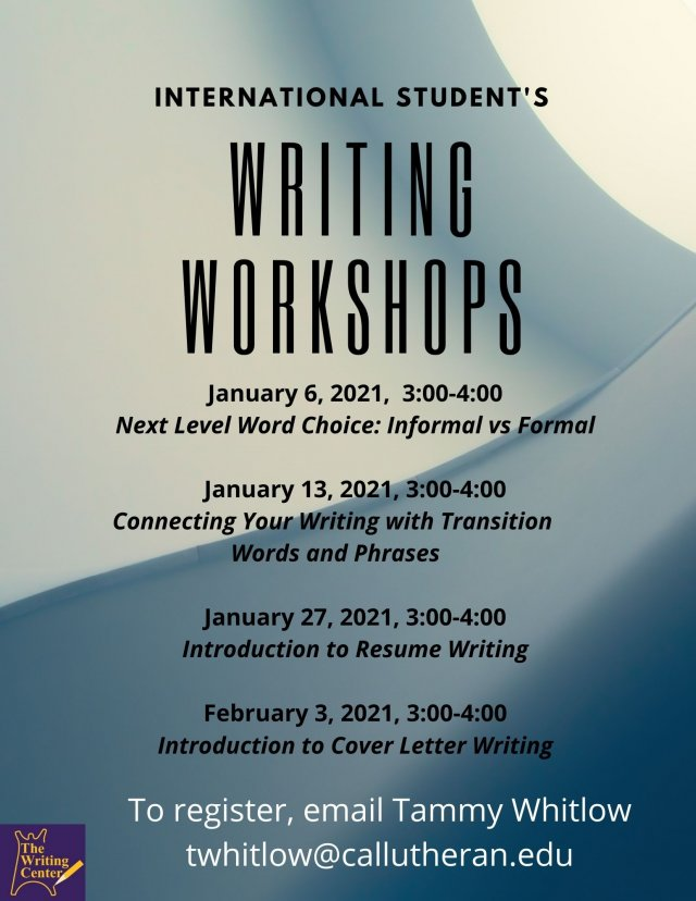International Writing Workshop: Next Level Word Choice: Informal vs. Formal Language