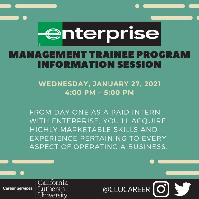 Enterprise: Management Trainee Program Information Session