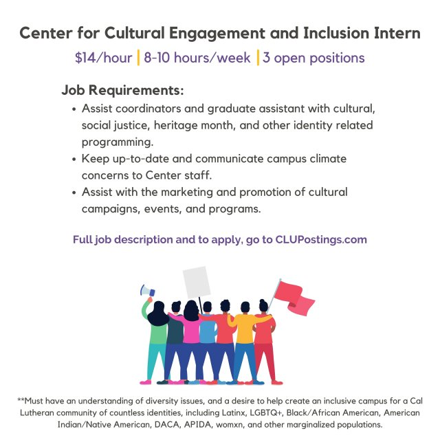 Student Life - Center for Cultural Engagement and Inclusion Internship Q&A