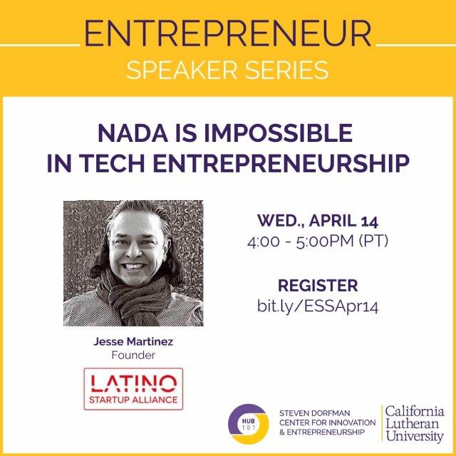 NADA is impossible in tech entrepreneurship
