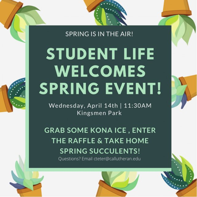 Student Life Welcomes Spring Event