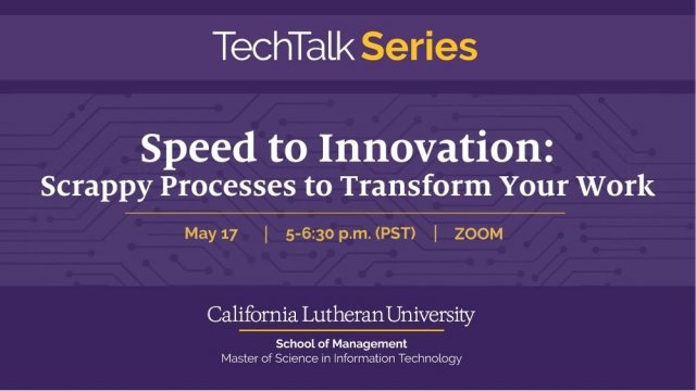 Speed to Innovation: Scrappy Processes to Transform Your Work