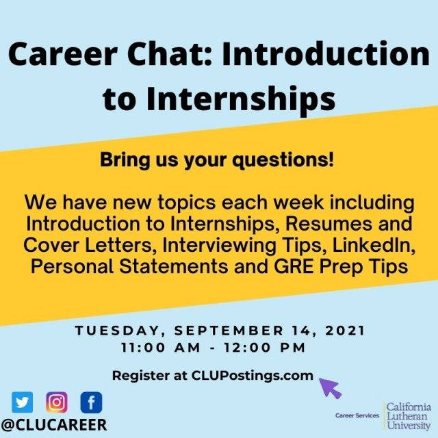 Career Chat: Introduction to Internships