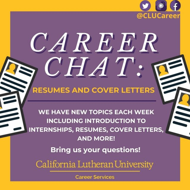 Career Chat - Resumes and Cover Letters