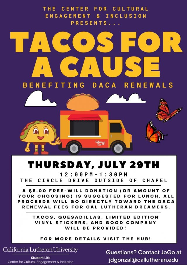 Tacos for a Cause: DACA Renewal Benefit Program