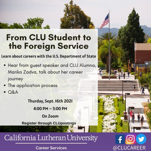 From CLU Student to Foreign Service