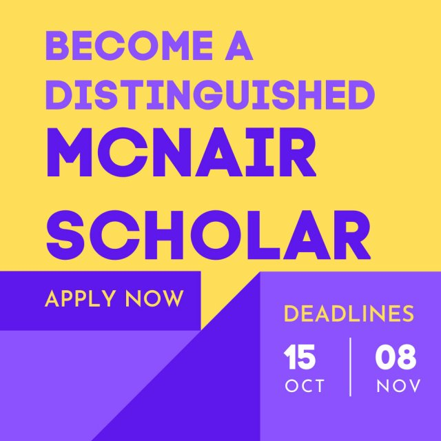 McNair Scholars Info Session