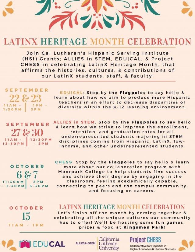 LatinX Heritage Month Celebration