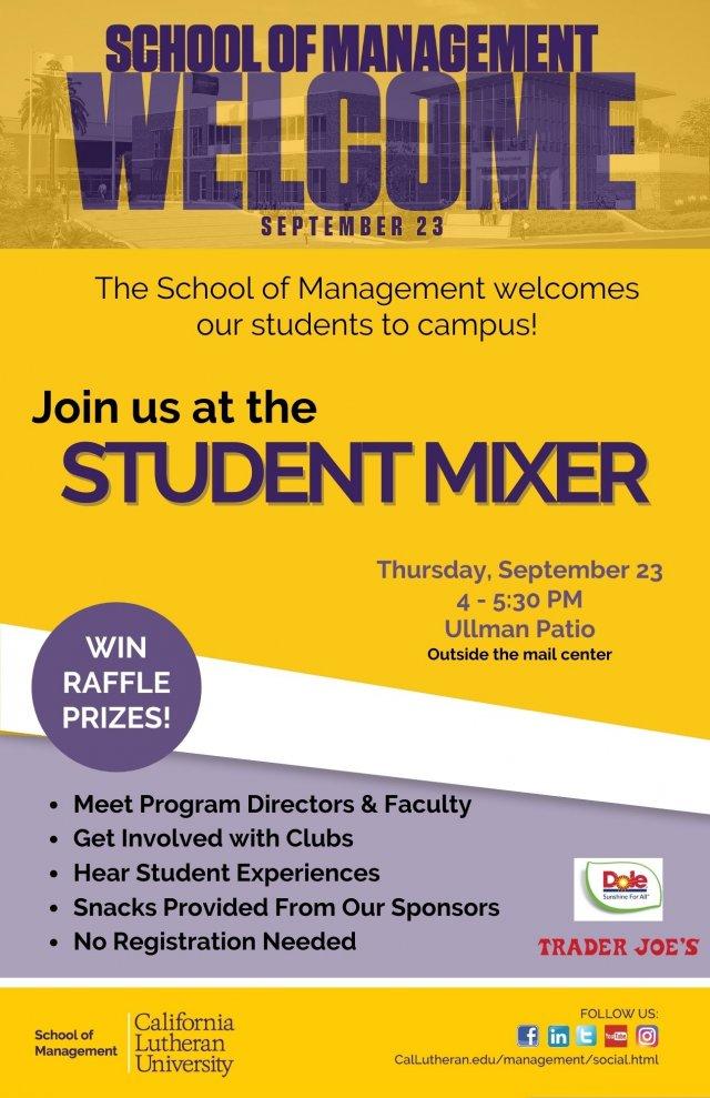 School of Management Welcome Student Mixer