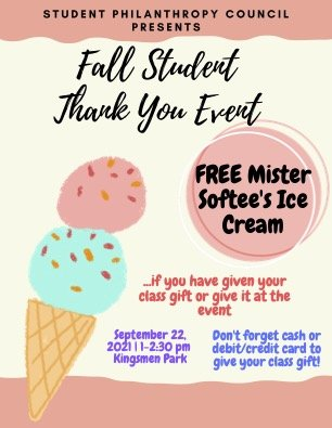 Fall Student Thank You Event