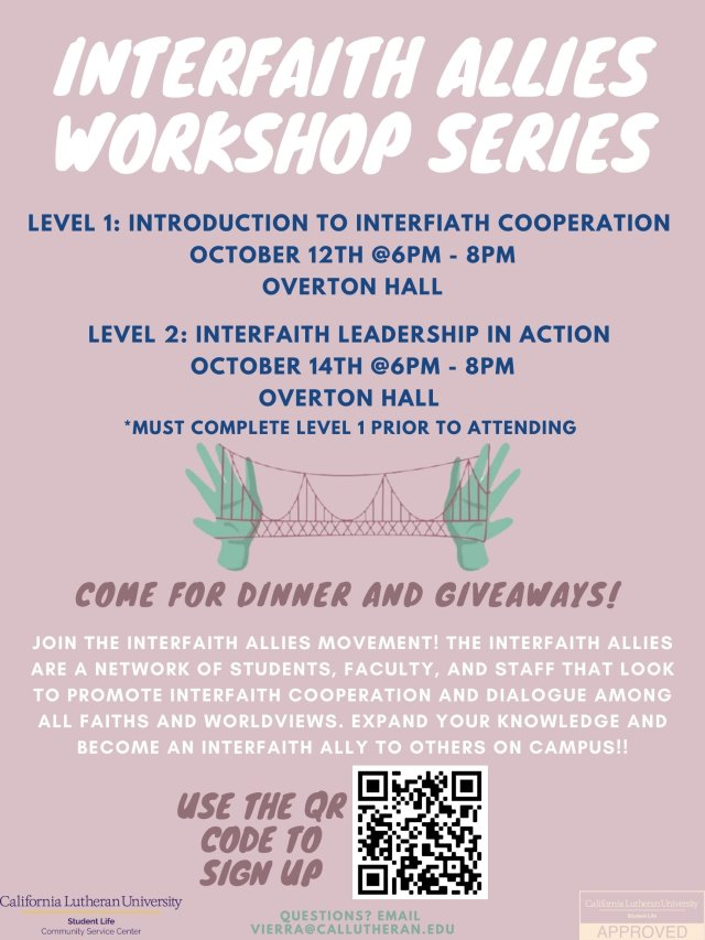 Interfaith Allies Workshop: Level 1
