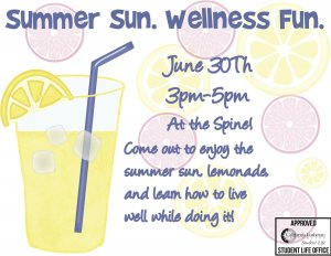 Summer Sun. Wellness Fun.