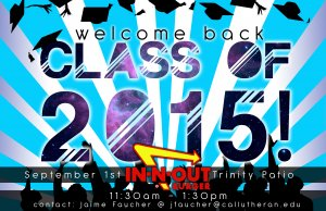 Senior Welcome Back- Class of 2015