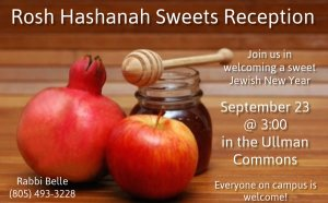 Rosh Hashanah Sweets Reception