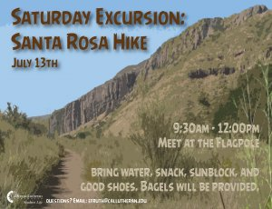 Saturday Excursion: Santa Rosa Hike