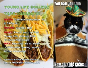 Young Life College TACO TUESDAY!