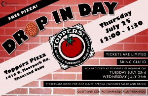 Topper's Pizza Place Drop-In