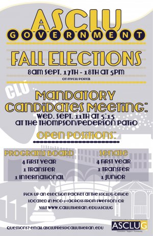 Mandatory Fall Election Candidates Meeting